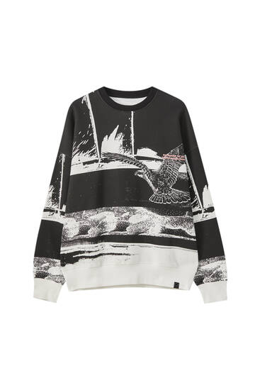 Sweatshirt with all-over print