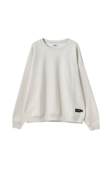 Heavy weight sweatshirt with embroidered detail