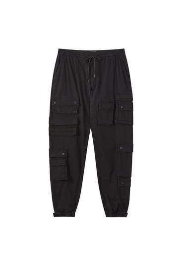 Beach cargo trousers with pockets