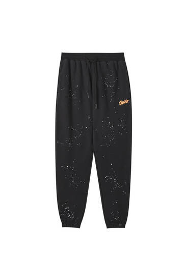 STWD jogging trousers with paint splatter