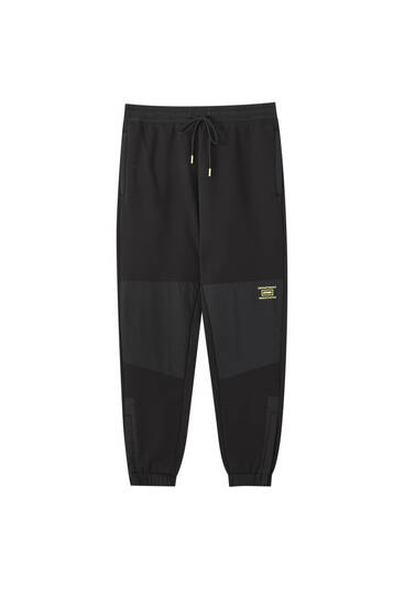 Joggers with contrast detail