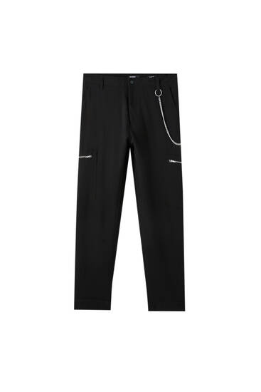 Cargo trousers with zip pockets