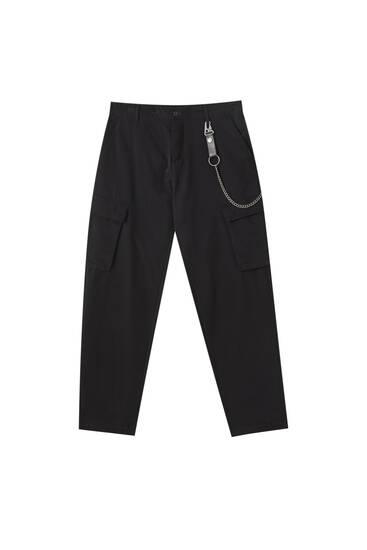 Pantalón cargo slim fit