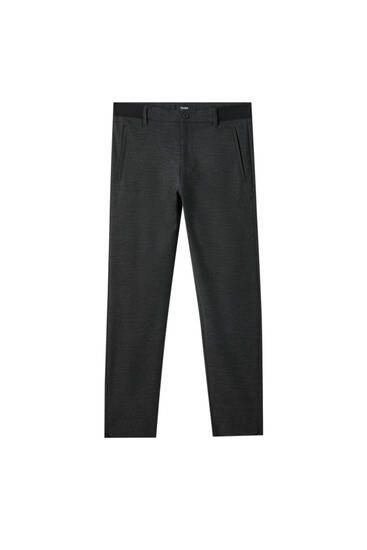 Joggers with elastic waist and zips