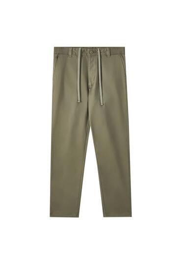 Pantalons xinesos slim cintura elàstica