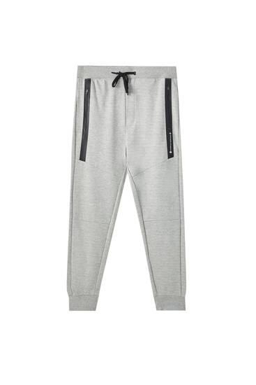 Текстуровані трикотажні штани-джогери