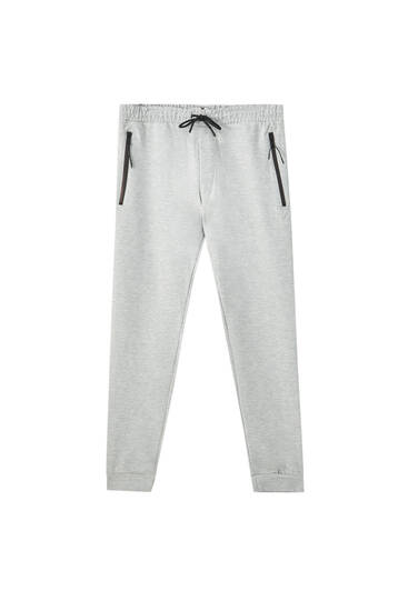 Joggers with contrast zips
