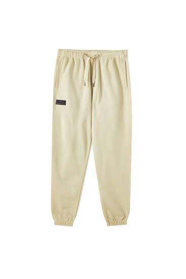 Garment dyed jogging trousers