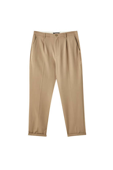 Slim comfort fit tailored trousers