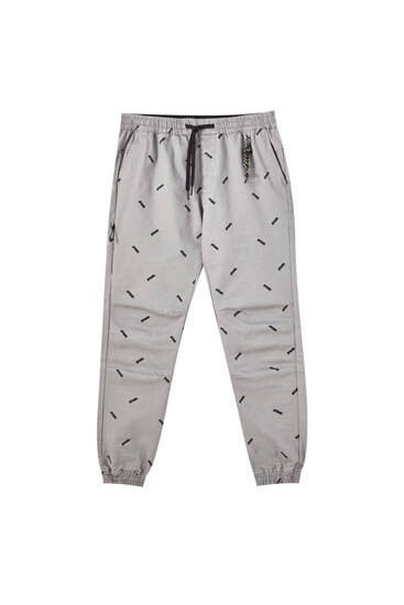 Beach trousers with an all-over print
