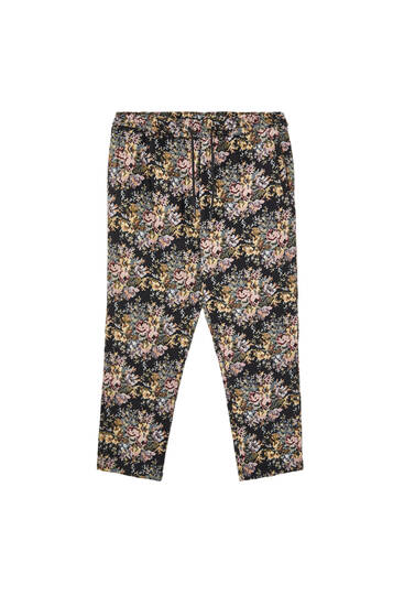 Floral jacquard Sicko19 Sickonineteen trousers