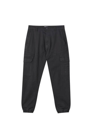 Garment-dyed cargo trousers