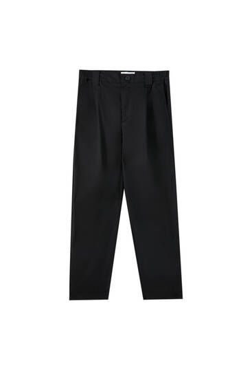 Slouchy trousers with pockets
