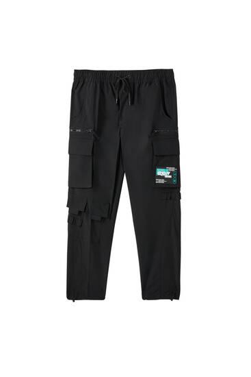 Schwarze Hose aus Funktionsstoff