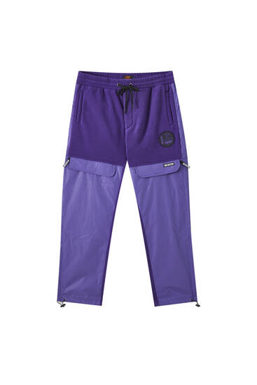 Reflective purple Sicko19 Sickonineteen trousers