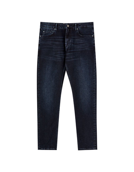 Blue slim comfort fit jeans