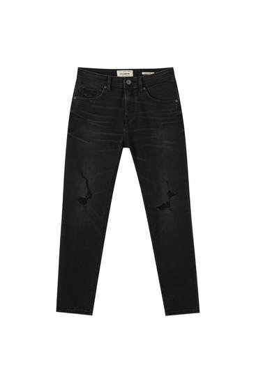 Basic super skinny jeans with rip details
