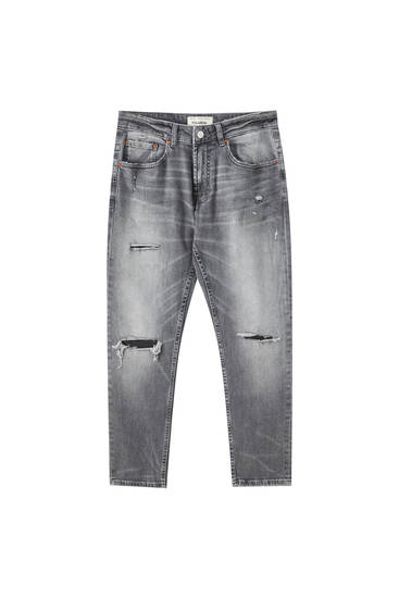 Distressed daralan slim fit jean