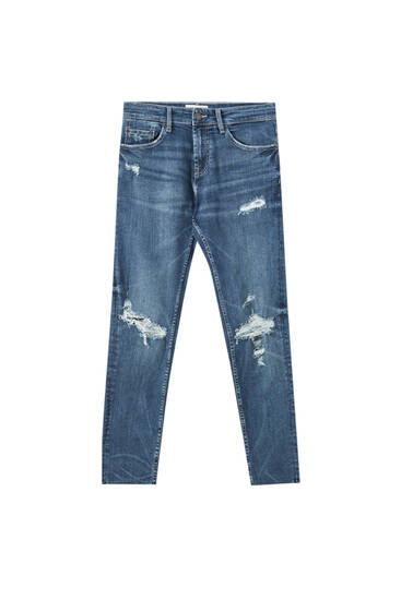 Premium fabric skinny fit jeans