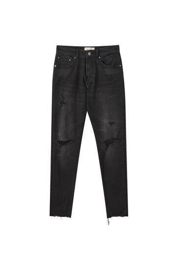 Premium fabric skinny fit jeans