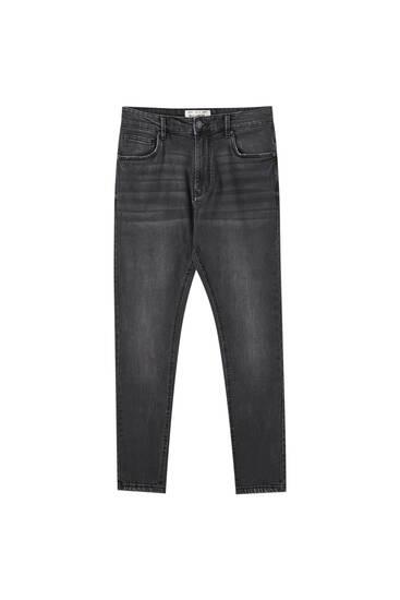 Jeans carrot fit coton