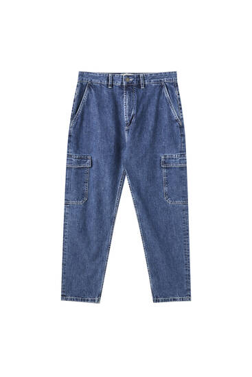 Cargo-Jeans im Relaxed-Fit