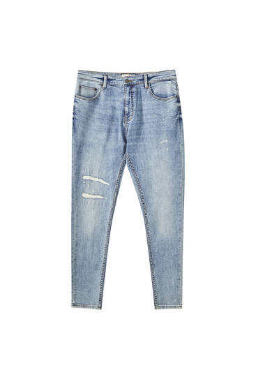 Jeans carrot soft rotos