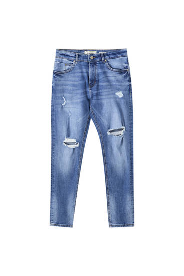 Premium medium blue skinny fit jeans
