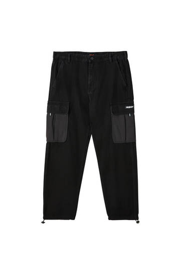 Sicko19 Sickonineteen black cargo trousers