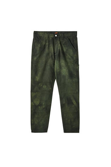 Sicko19 Sickonineteen green tie-dye trousers