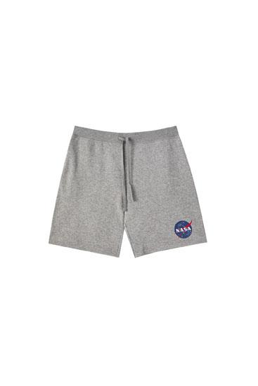 Basic-Bermudashorts NASA im Jogger-Stil