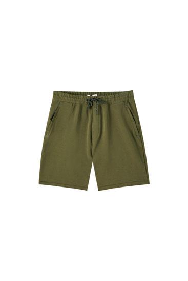 Basic jogging Bermuda shorts in technical fabric