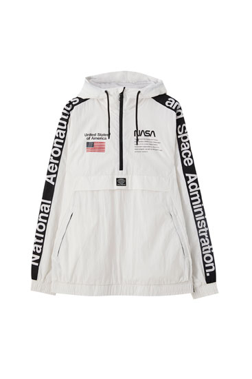 Contrast NASA anorak jacket