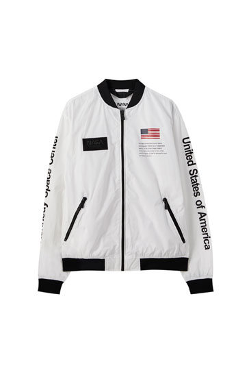 Lightweight NASA bomber jacket