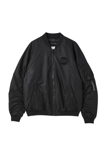 Basic padded bomber jacket