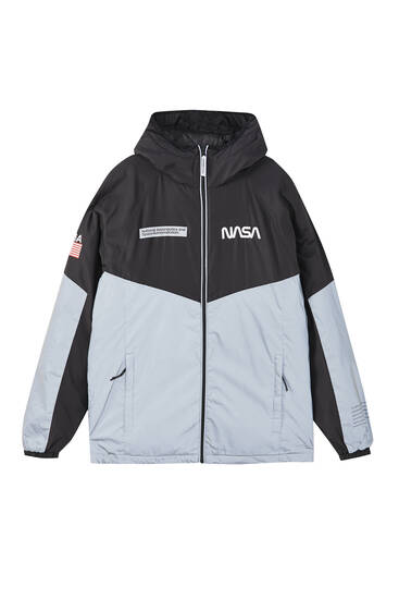 Reflective Nasa raincoat with hood