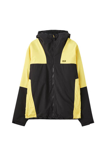 High neck colour block jacket