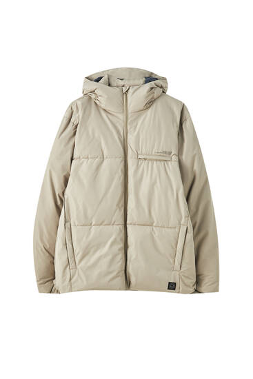Water-repellent puffer jacket
