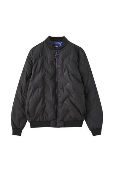 Thermo-sealed logo bomber jacket