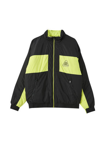 Jacket with neon panels
