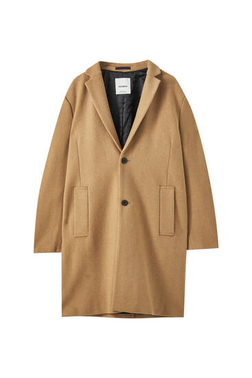 Classic synthetic wool coat