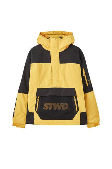 STWD contrast anorak jacket
