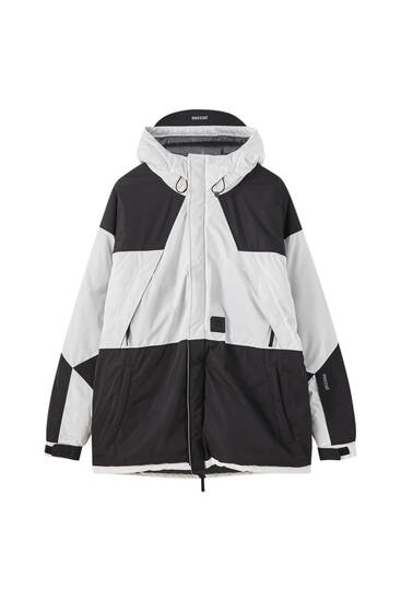 STWD technical parka with colour block