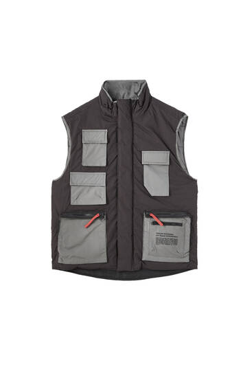 NASA utility gilet with multiple pockets