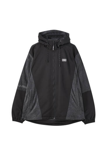 Fleece jacket with contrast details
