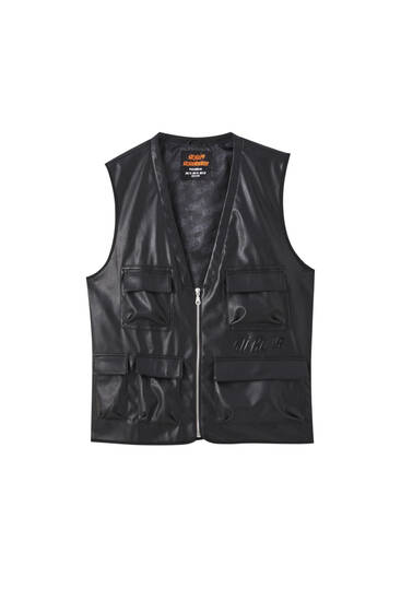 Sicko19 Sickonineteen faux leather vest