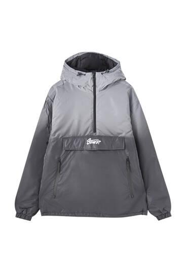 Reflective ombré anorak jacket