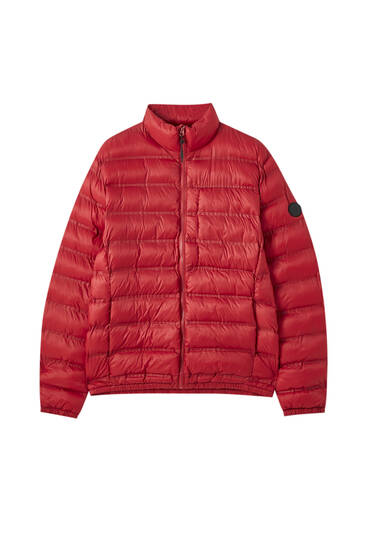 Lightweight puffer jacket with a pocket