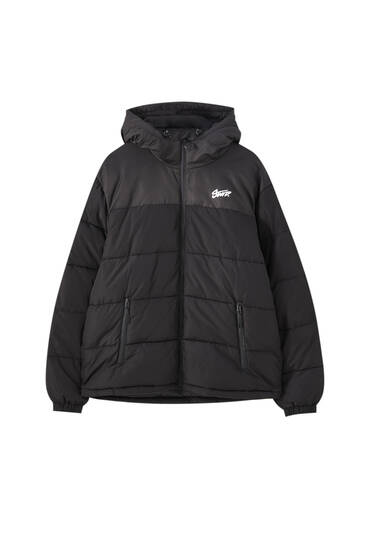 Puffer jacket with STWD logo