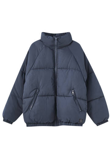 Dark blue puffer jacket
